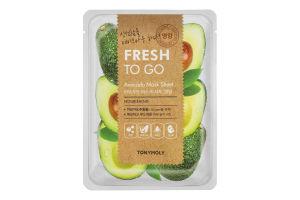 Маска для обличчя тканинна Avocado Fresh To Go Tonymoly 25г