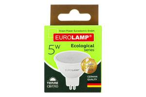 Лампа светодиодная 5W GU5.3 3000K Ecological Eurolamp 1шт