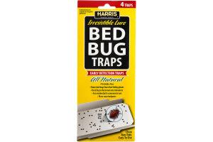 Harris Irresistible Lure Bed Bug Traps - 4 CT