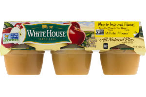 White House All Natural Plus Apple Sauce - 6 CT