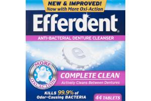 Efferdent Anti-Bacterial Denture Cleanser Complete Clean Tablets - 44 CT