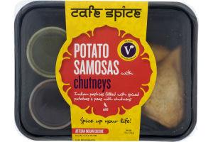 Cafe Spice Potato Samosas with Chutneys