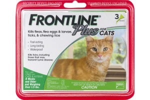 Frontline Plus For Cats 8 Weeks And Older - 3 PK
