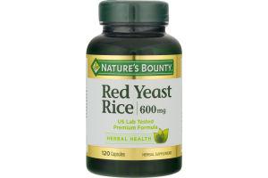 Nature's Bounty Red Yeast Rice 600 MG - 120 CT