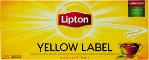 Чай черный Yellow Label Tea Lipton к/у 25х2г