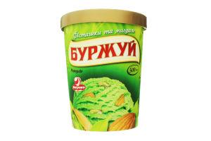 Морозиво Ласунка зі смаком фісташки з фісташками та мигдалем 500г пакет