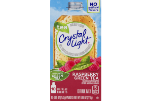 Crystal Light Drink Mix Raspberry Green Tea - 10 CT