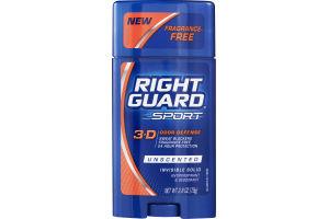 Right Guard Sport 3-D Odor Defense Anitperspirant & Deodorant Solid Unscented