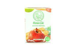 Сок ОКЗДП Наш сок морковно-яблочный т/п 0,2л