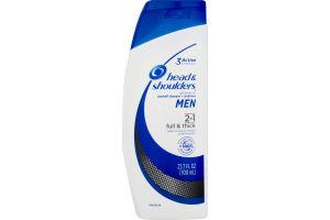 Head & Shoulders Dandruff Shampoo + Conditioner Men 2 in 1 Full & Thick