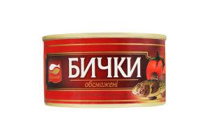 Бычки обжаренные в томатном соусе Аквамир ж/б 230г