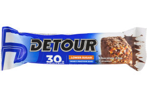 Detour 30g Protein Whey Protein Bar Lower Sugar Chocolate Chip Caramel
