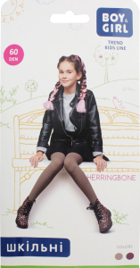 Колготы детские Boy&Girl Herringbone 60den 128-134 marsala