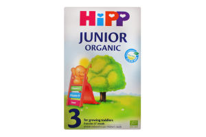 Суміш Hipp Junior Organic молочна суха 3 500г х6