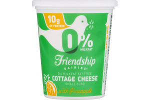 Friendship Dairies 0% Milkfat Fat Free Cottage Cheese Small Curd with Pineapple