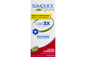 Slimquick Pure Weight Loss Dietary Supplement Extra Strength Caplets - 60 CT