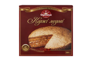 Коржі медові Одеський хлібозавод №4 к/у 500г
