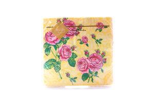 Серветки Luxy паперові Букет троянд шампань 33*33см 20шт