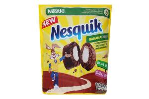 Сніданок сухий Подушечки злакові зі смаком банану Bananacrush Nesguik м/у 350г