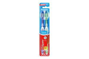 Щітка зубна середньої жорсткості Експерт чистоти Colgate 2шт
