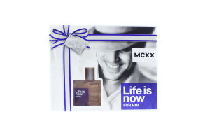 Mexx Life Is Now чол.(т/вода30мл+гель-душ50мл)