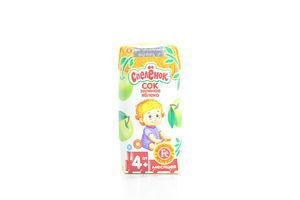 Сок для детей от 4мес Зеленое яблоко Спелёнок т/п 0.2л