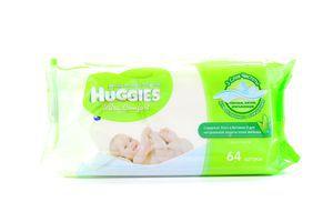 Салфетки влажные детские Алое и витамин Е Ultra Comfort Huggies 64шт