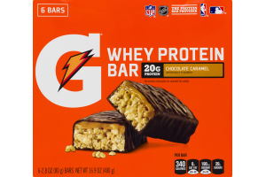 Gatorade Whey Protein Bar Chocolate Caramel - 6 CT