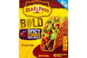 Old El Paso Bold Spicy Cheddar Flavored Taco Shells - 10 CT