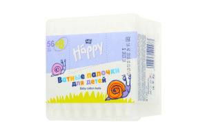 Ватні палички Bella Happy для дітей 64шт