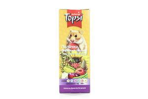 Палочки для попугаев фруктово-овощные Topsi 100г