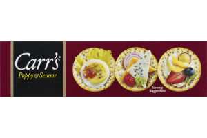 Carr's Poppy & Sesame Thin Savoury Crackers