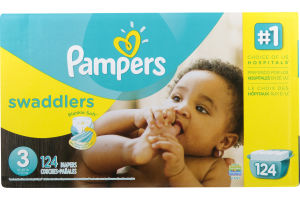 Pampers Swaddlers Diapers Size 3 (16-28 lb) - 124 CT