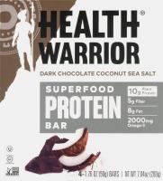Health Warrior Superfood Protein Bar Dark Chocolate Coconut Sea Salt - 4 CT