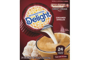 International Delight Cold Stone Creamery Sweet Cream Flavor Creamer Singles - 24 CT