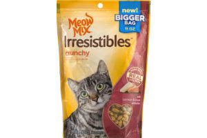 Meow Mix Irresistibles Crunchy Treats For Cats Salmon & Ocean Whitefish