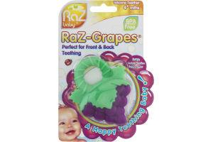 RaZbaby RaZ-Grapes Silicone Teether 4+ mths