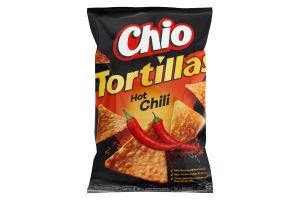 Чіпси кукурудзяні зі смаком перцю Чилі Tortillas Chio м/у 125г
