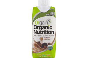 Orgain Organic Nutrition Complete Protein Shake Iced Cafe Mocha