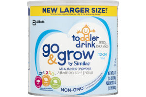 Go & Grow By Similac Milk-Based Toddler Drink Powder 12-24 Months