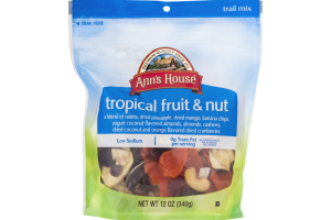 Ann's House Low Sodium Trail Mix Tropical Fruit & Nut