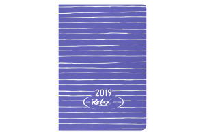 Ежедневник дат. 2019 RELAX, A6, 336 стр., фиолетовый