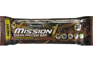 MuscleTech Mission 1 Clean Protein Bar Chocolate Brownie