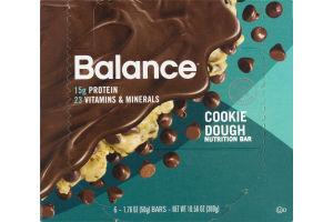 Balance Cookie Dough Nutrition Bar - 6 CT