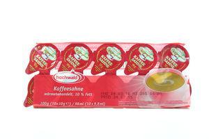 Сливки Kaffeesahne порционные 10% Hochwald 10*10г