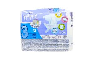 Підгузки Happy Midi р.3 №13 (5-9кг)