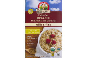 Dr. McDougall's Right Foods Thick Cut Organic Old Fashioned Oatmeal Milled Flax - 6 CT