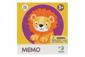 Игра настольная для детей от 3лет №300157 Дикие животные Memo Dodo 1шт