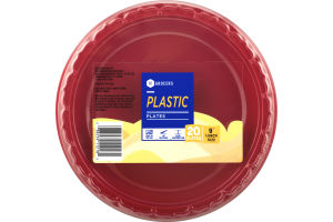 "SE Grocers 9"" Lunch Size Plates Plastic - 20 CT"