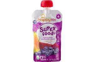 HappyTot Organics Super Foods Organic Pears, Blueberries & Beets + Super Chia 4